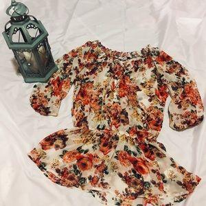 Forever 21 summer sheer blouse